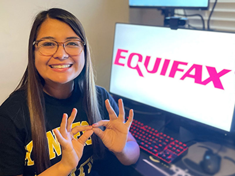 student finds success at Equifax